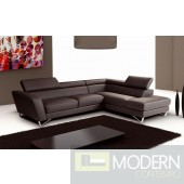 Accenti Italian Leather Sectional GREY