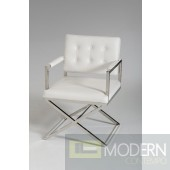 Modrest Spielberg Modern White Leatherette Dining Chair