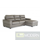 Divani Casa Spindle Modern Dark Grey Eco-Leather Sofabed Sectional
