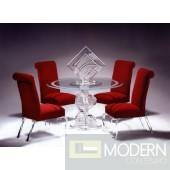 Zinotti Helix Spiral Round Acrylic Dining Table