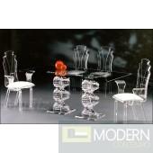 Zinotti Spiral Acrylic 3 Piece Dining Set