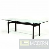 Square Dining Table, Clear