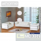 Stephanie - Modern Bonded Leather Sofa Set