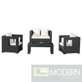 Sterling Outdoor 4-Piece Seating Set,