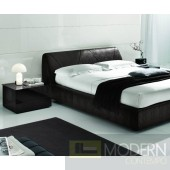 SMA Strip - Dark Brown Crocodile Texture Eco-Leather Bed - Made in Italy