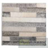 Modrest Stripes Modern Leather Small Area Rug