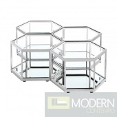 Honeycomb Coffee Table SILVER