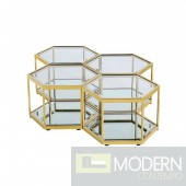 Honeycomb Coffee Table GOLD