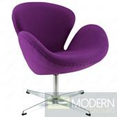 Swan Chair Fabric, Purple