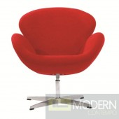 Swan Chair Fabric, Red