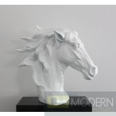 SZ0002 - Modern White Horse Head Sculpture
