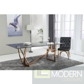 Modern Rose Gold Dining Table