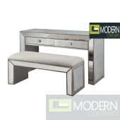 Loiret Mirrored Collection - Console and Bench