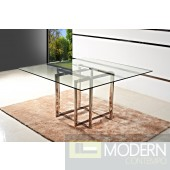 Zuritalia Modern Square Glass Top Dining Table MCCIIT200