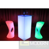 Rechargeable LED Bar Stool with Color Change Remote-MCYK-3884