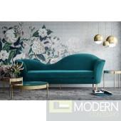 Pentos Aqua Velvet Sofa