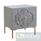 Renata Grey Lacquer Side Table