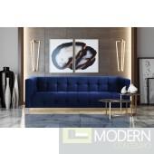 Amalfi Velvet Sofa Navy Blue