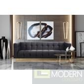 Amalfi Velvet Sofa Grey