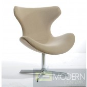 Modrest Aludra Modern Beige Fabric Lounge Chair