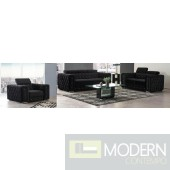 Modern  Black Velvet Sofa Set with Crystals