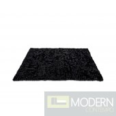 Modrest Cotton Tail - Modern 5' x 7' Black Rug
