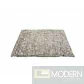 Modrest Cotton Tail - Modern 5' x 7' Grey Rug