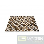 Modrest LM-04 - Modern 5' x 7' Cowhide Patch Rug