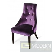 A&X Samantha Purple Velour Dining Chair - Set of 2