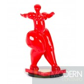 Modrest Voluptuous - Modern Red Polyresin Sculpture