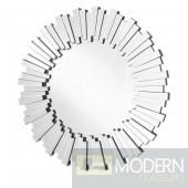 Adrienne 39.5 in. Contemporary Mirror in ClearBurst Mirror