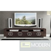 Guccio High Gloss Wenge 4-Door TV Stand *Made In Italy