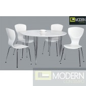 5Pc Blanca Dining Table Set
