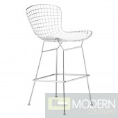 Wire Bar Height Chair, White