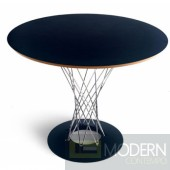 "Wire Dining Table 42"", Black"