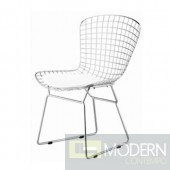 Wire Side Chair, White