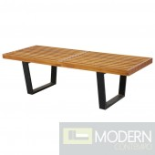 """Wood Bench 48"""", Natural"""