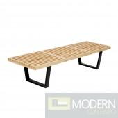 """Wood Bench 60"""", Natural"""