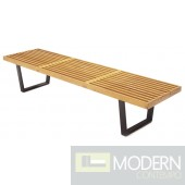 "Wood Bench 72"", Natural"