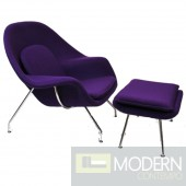 Woom Chair and Ottoman, Purple