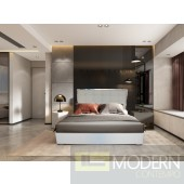 OMAN White ECO Leather  platform bed
