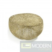Dolce Gold Reef aluminium coffee table
