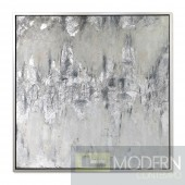 "39"" Amouria Wall hanging Art Silver"