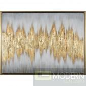 """59"""" Nostalgia Wall Hanging Art Gold"""