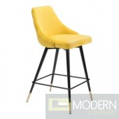 Piccolo Bar Chair Yellow Velvet