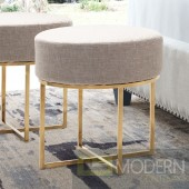Bon Stool - Beige & Stainless