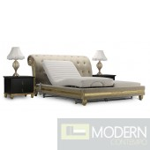 Fiore Tufted Royale Baroque Gold bed
