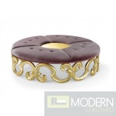 Eleonora Round Baroque Gold Stool