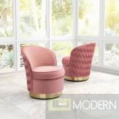 Zuo Modern Zelda Accent Chair Pink LOCAL DMV DEALS