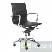 OWEN LOW BACK OFFICE CHAIR BLACK
